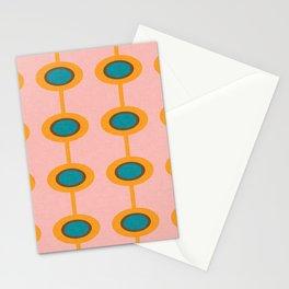 Flower Pod pink mid century modern Stationery Cards