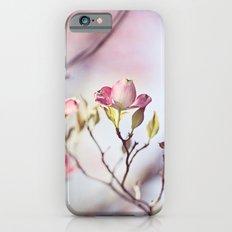 Pink Dogwood Flower Photography, Pastel Lavender Floral, Spring Nature Art iPhone 6s Slim Case