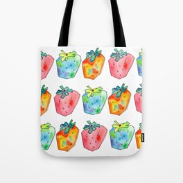 Difference Is Not Wrong watercolor painting strawberry illustration fruits nursery kitchen Tote Bag