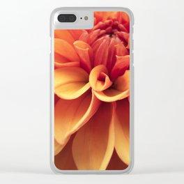 Dahlia design Clear iPhone Case
