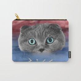 Scottis Fold Cat- Kitten Katy Carry-All Pouch