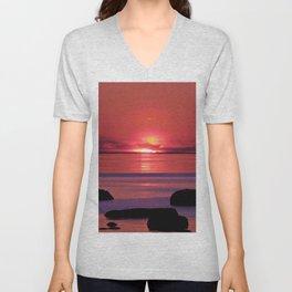 Sunset Ripples Unisex V-Neck