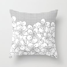Cherry Blossom Grid - In Memory of Mackenzie Throw Pillow