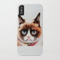 grumpy iPhone & iPod Cases featuring grumpy by AngelaArt
