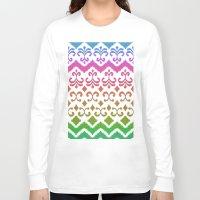 ikat Long Sleeve T-shirts featuring Ikat Rhythm & Blues by micklyn