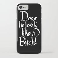 calligraphy iPhone & iPod Cases featuring Pulp Calligraphy by Matthew Bartlett