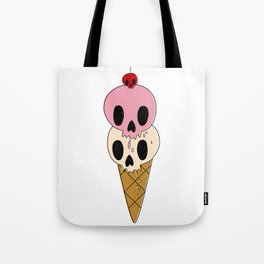 Skull Ice Cream Tote Bag