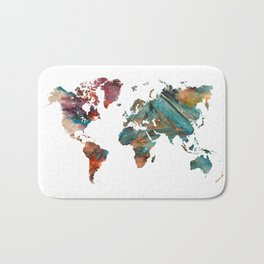 Map of the World triangle Bath Mat
