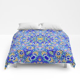 Arabesque kaleidoscopic Mosaic G512 Comforters
