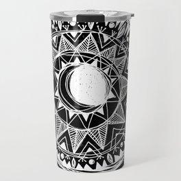 Black Moon Mandala Travel Mug