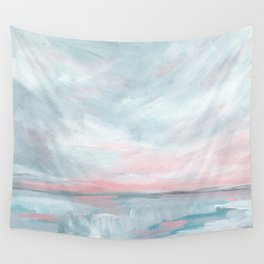 Waves of Change - Stormy Sea Seascape Wall Tapestry