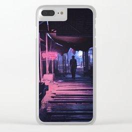 Diamond City Nights Clear iPhone Case
