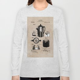 patent China Coffee pot - Blanke - 1909 Long Sleeve T-shirt