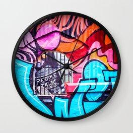 People Talk Graffiti Art in Houston Wall Clock