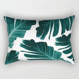 Tropical Banana Leaves Dream #1 #foliage #decor #art #society6 Rectangular Pillow
