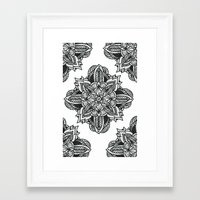 zentangle Framed Art Prints featuring zentangle by Maria Velik