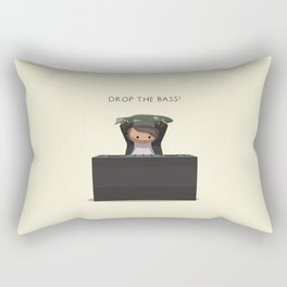 Drop The Bass! Rectangular Pillow