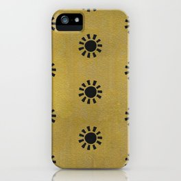 Gold Sun Hand Painted Pattern iPhone Case