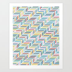 Herringbone Color Art Print