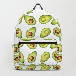 Watercolor Painting Green Avocado Pattern Backpack
