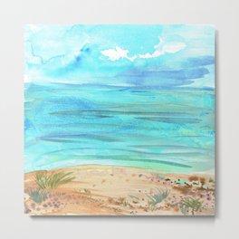 Beachy Abstract Metal Print