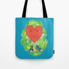 A Heart With Sneakers On Tote Bag