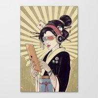 geisha Canvas Prints featuring Geisha by Azrhon