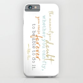 Nostalgic Inspirational Quote Storybook Quote from Peter Pan iPhone Case