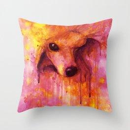 Poodle Eve Throw Pillow