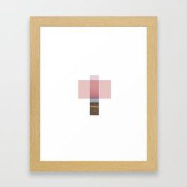 Desert Cross Framed Art Print