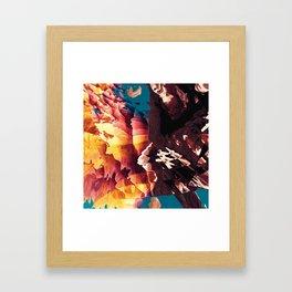 Bursting Excitement Framed Art Print