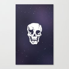 Cracked Up Skull in Space Canvas Print