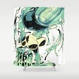 Slime Girl Shower Curtain