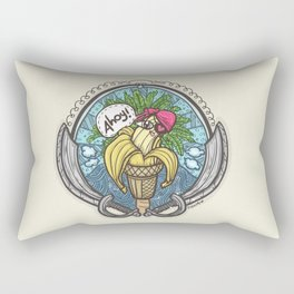 Banana Pirate! (Yellow Bg) Rectangular Pillow