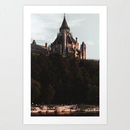 Behind the Parliament Art Print