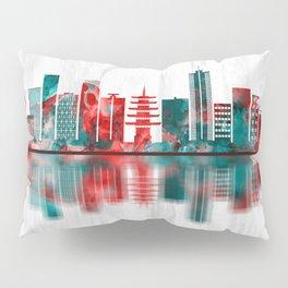 Kawasaki Japan Skyline Pillow Sham