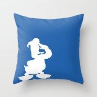 donald duck Throw Pillows featuring Donald Duck  by JessicaSzymanski