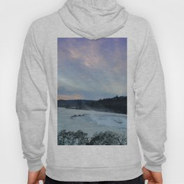 A CHILLY WINTER WILLAMETTE FALLS SUNSET Hoody