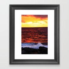Red Red Sunset Framed Art Print