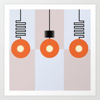 the lights Art Prints featuring Lights by Nope