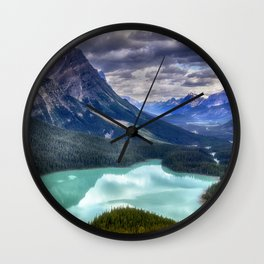 Peyto Lake - Banff National Park Wall Clock