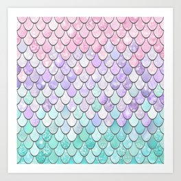Cute Pastel Tear Drop Pattern Art Print