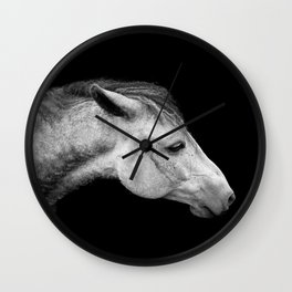 Casper | Horse Photography | Animal Art | Minimalism | Nature | black-and-white Wall Clock
