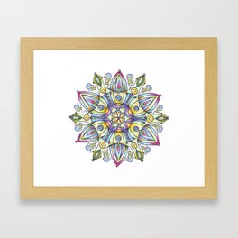 mandala Winter Framed Art Print