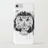 scandinavian iPhone & iPod Cases featuring Scandinavian Owl by Le Dous