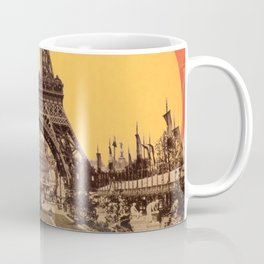 Rainbow Sky Above The Eiffel Tower Coffee Mug