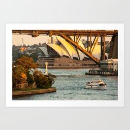 Sydney Opera House & Harbour Bridge Art Print