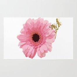 Pink Gerbera Rug