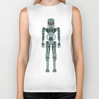 vector Biker Tanks featuring Terminator Vector by TIERRAdesigner