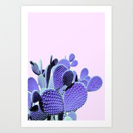 Prickly Cactus - Purple on Pink #cactuslove #tropicalart Art Print
